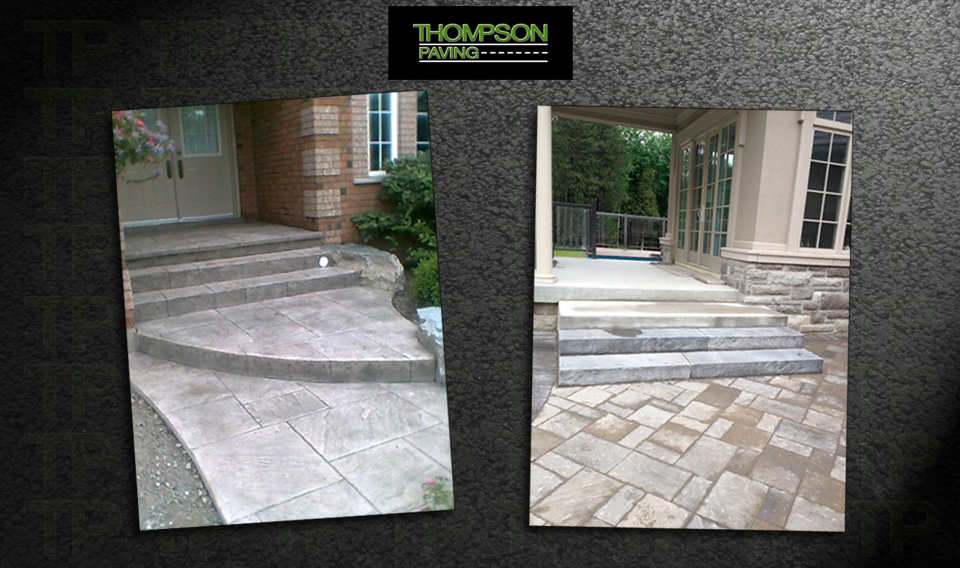 Interlocking Stone and Concrete Patios